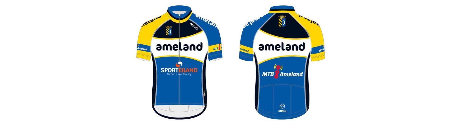 MTB Ameland: Nieuw MTB Ameland shirt ontworpen door nieuwe hoofdsponsor AGU
