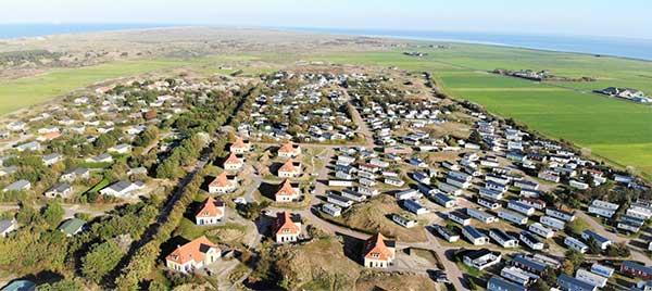 MTB Ameland 2020: Zicht op Vakantiepark Klein Vaarwater