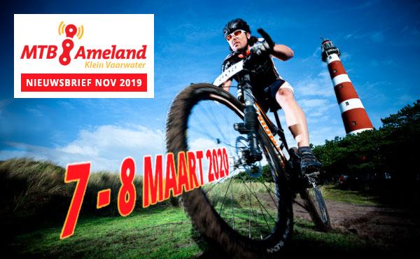 MTB Ameland 2020: Nieuwsbrief november 2019